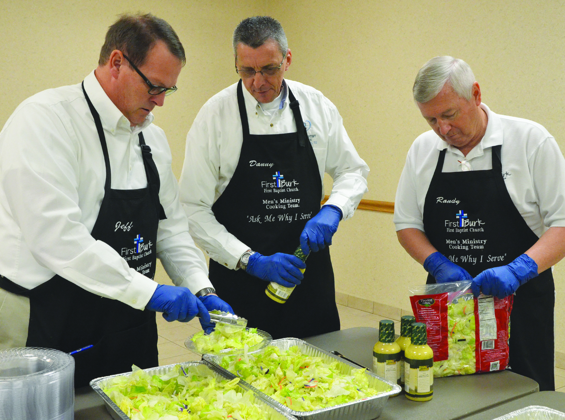 Men's Ministry Cooking Team