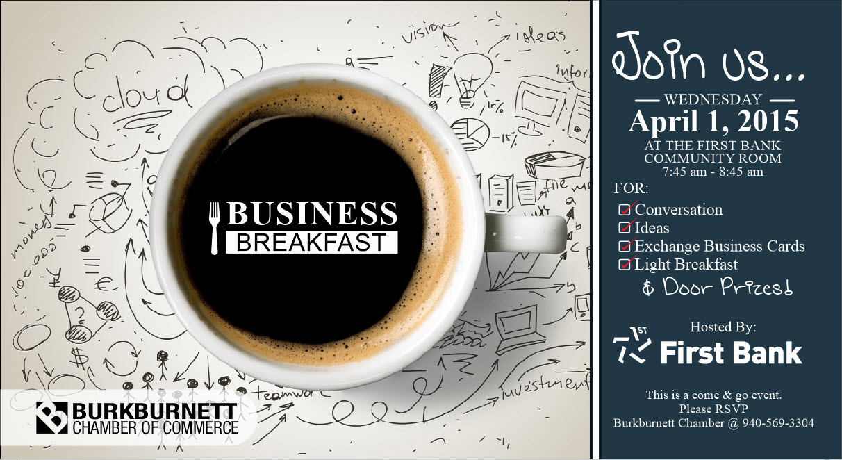 First Bank to Host Business Breakfast