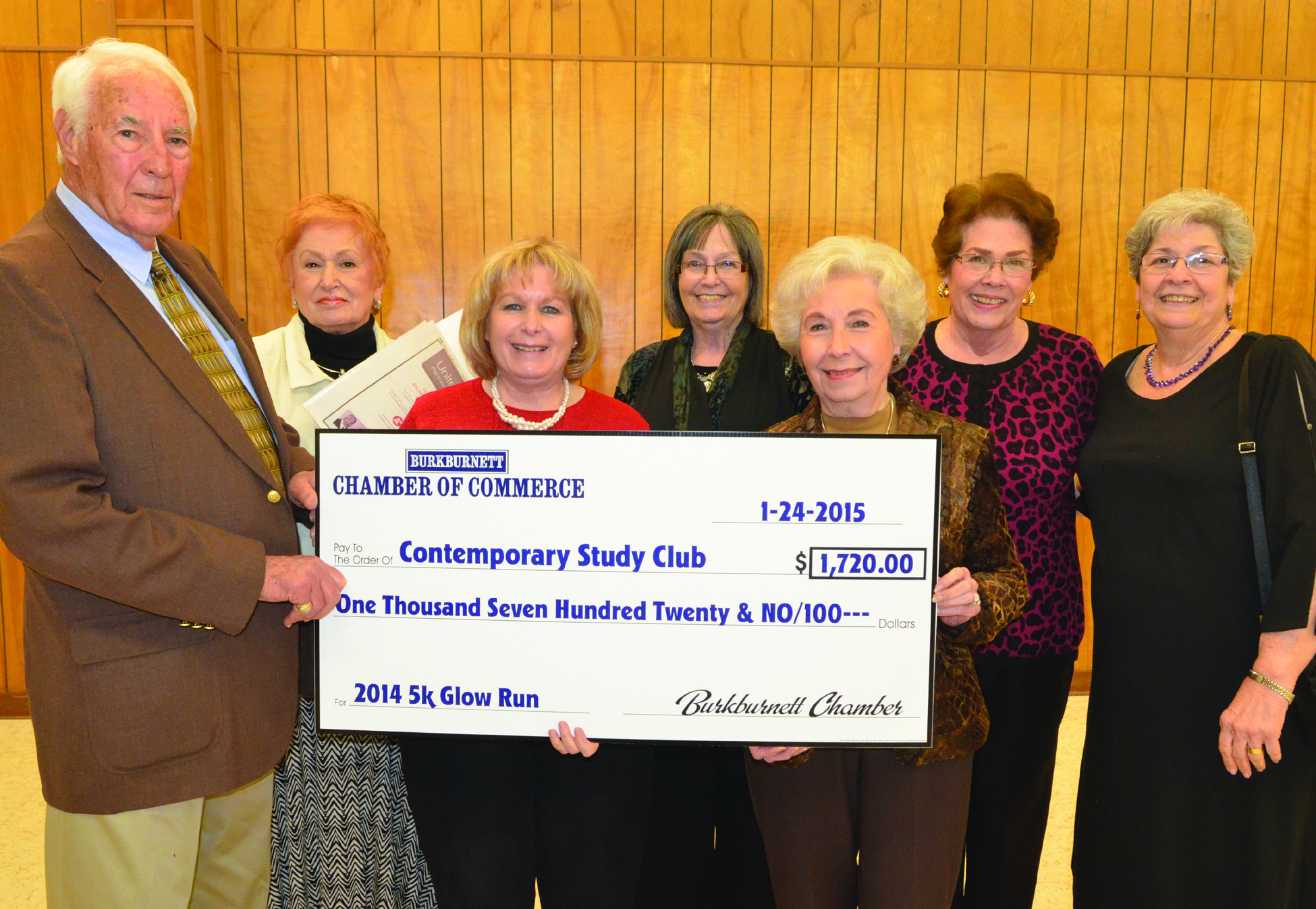 2015 Check Presentation to Contemporary Study Club